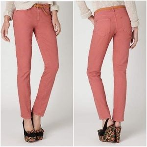 Anthropologie Pilcro The Stet Salmon Skinny Pants